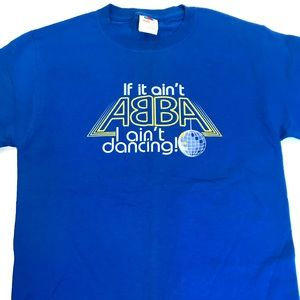 🎸 '90s ABBA Vintage Dancing Queen Tee Shirt NWOT